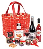 Ducs de Gascogne - Panier gastronomique 'Le Flamboyant' - comprend 9 produits dont un bloc de foie gras - 944871