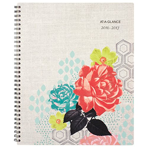 """AT-A-GLANCE Academic Year Weekly/Monthly Planner/Appointment Book, July 2016 - June 2017, 8-1/2""""x11"""", Chelsea, (193-905A)"""