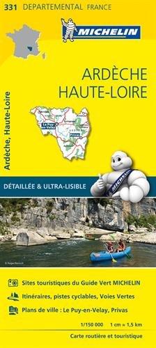 ARDECHE / HAUTE - LOIRE 11331 CARTE ' LOCAL ' ( France ) MICHELIN KAART (CARTES (5900))