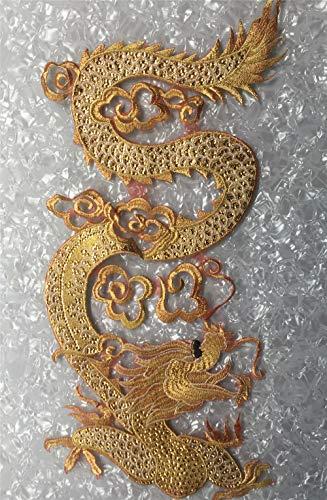 Parches bordados de dragón Golden Line para ropa