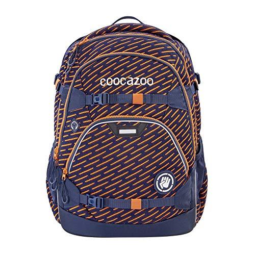 """coocazoo Schulrucksack ScaleRale """"FreakaSneaka Orange Blue"""", blau, ergonomischer Tornister, höhenverstellbar mit Brustgurt und Hüftgurt, ab der 5. Klasse"""
