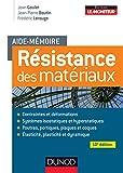 Aide-mémoire - Résistance des matériaux - 10e éd.