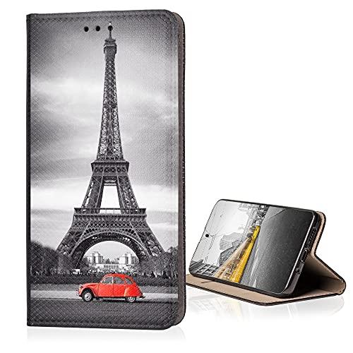 KX-Mobile Hülle für Samsung Galaxy A32 5G Handyhülle Schutzhülle Klapphülle Smart Magnet mit Motiv 216 Eifelturm Paris