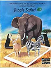 Interactive AR Coloring Books - Kids Coloring Books for Boys and Girls with 3D Augmented Reality W Free iOS / Android Apps - Awesome Twist, Educational Gift (1 Coloring Book, Jungle Safari)