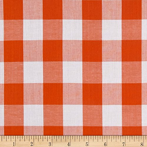 Richland Textiles Richcheck 60in Gingham Check 1in Orange Fabric By The Yard