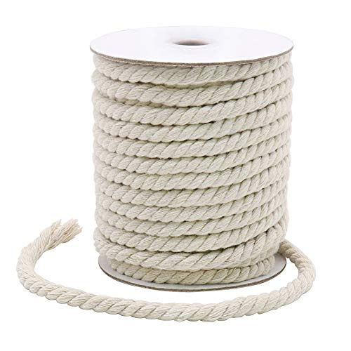 20 Yards 8mm Macrame Cord, Strong Cotton Macrame String for DIY Crafts, Gifts