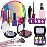 STAY GENT Maletin Maquillaje Infantil, 13 Pcs Falso Set de Maquillaje Niñas con Bolsa Cosméticos, Hermosos Regalos Educativos para Niños de 3+ Años