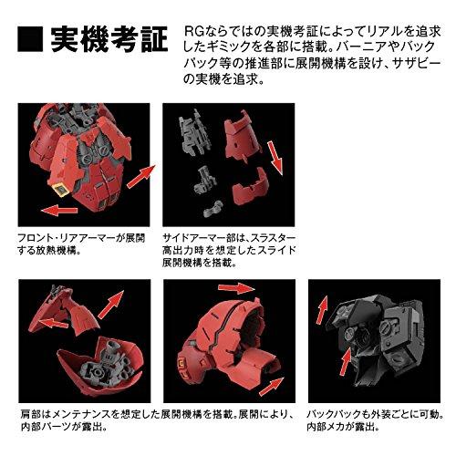 『バンダイ(BANDAI) RG 機動戦士ガンダム 逆襲のシャア サザビー 1/144スケール 色分け済みプラモデル』の6枚目の画像