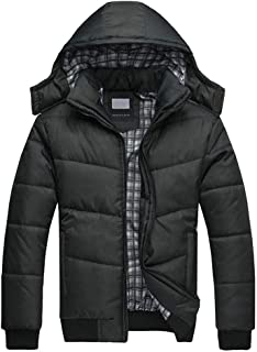 2019 4XL Winter Coats for Men Boys Fashion Padded Hoodies Warm Casual Down Puffer Jackets Thick Big and Tall Outwear