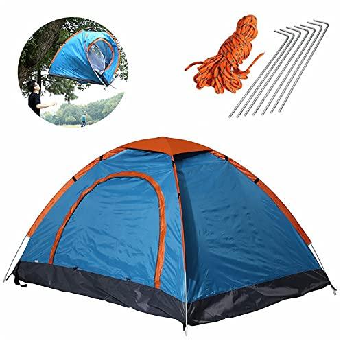 Jtoony Tienda de campaña de 79 x 59 cm, 2 personas, plegable, impermeable, ultraligera, toldo para camping, tienda de senderismo (tamaño: 200 x 150 x 100 cm, color: azul)