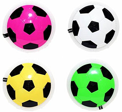 Unbekannt Spielzeug LED Luftkissen Air Power Soccer Fußball Scheibe Fun Sport in & Outdoor in Verschiedenen Farben wählbar inkl. Batterien Neu (Gelb)