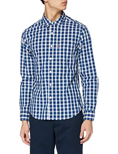 Levi's Classic 1 Pkt Slim Camisa, Nash Cloud Dancer, L para Hombre
