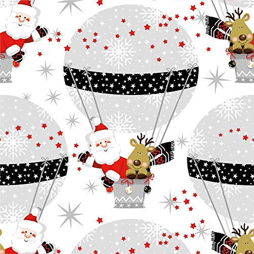 Nouveau Winter Ballooning papieren servetten, meerkleurig, 33 x 33 cm