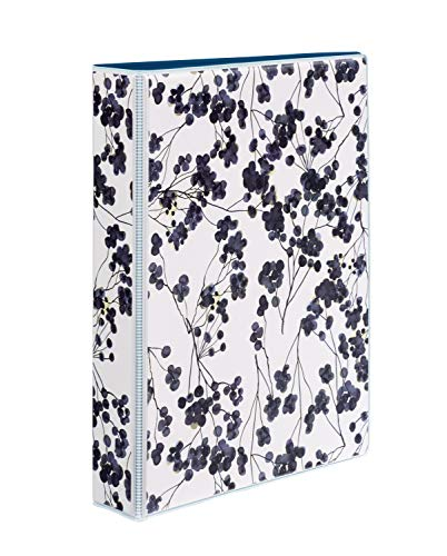 """Avery Mini Durable 3 Ring Binder, 1"""" Round Rings, Holds 5.5"""" x 8.5"""" Paper, 1 Painted Floral Binder (18444)"""