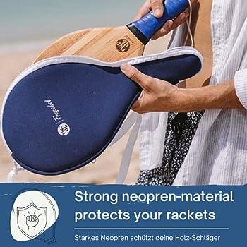 two46 | Sac Frescobol en néoprène, Protection Parfaite pour Le Set Frescobol | Convient à Toutes Les Raquettes Frescobol Classiques