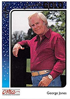 George Jones trading card Country Gold 1992#29 Gold Edition