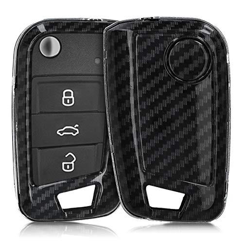 kwmobile Funda Compatible con VW Golf 7 MK7 Llave de Coche de 3 Botones - Carcasa Dura para Llave de
