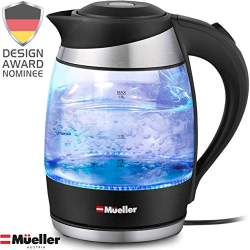 Mueller Premium 1500W Electric Kettle with SpeedBoil Tech, 1.8 Liter Cordless with LED Light,...