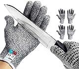 2 coppie Guanti Antitaglio,InnoBeta guanti di sicurezza da lavoro, guanti antiscivolo Touch screen, guanti da cucina resistenti al taglio Protezione di Livello 5 ad Alte Prestazioni (M)