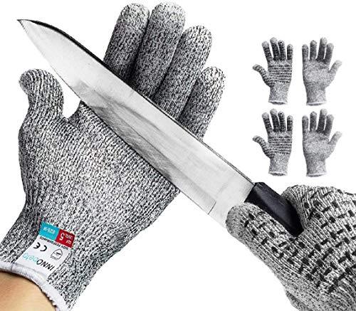 InnoBeta Corte guantes resistentes, resistente al corte de seguridad guantes de trabajo, guantes de cocina Mx2 M2