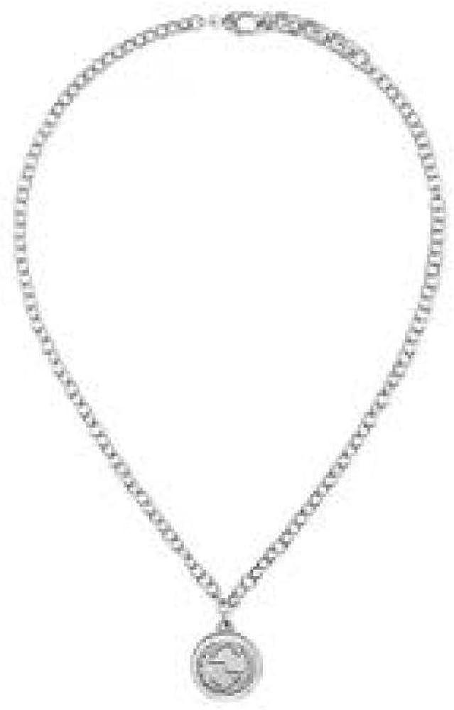 Girocollo gucci argento con pendente medaglia YBB43348100100U