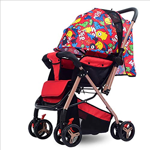 Buy Bargain Baby Stroller Travel System Foldable Sit and Reclining High Landscape Design Shock Absor...