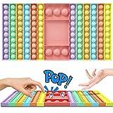WELLXUNK Fidget Toy, Juguete Antiestres, Juguete Sensorial, Bubble Push Juguetes,Avce 2 Dados Juego multijugador Pinzando Fidget Bubble, para Aliviar el Estrés y la Ansiedad para Niños y Adultos (D)