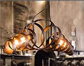 GOWE American country European retro fashion creative wrought iron antique industrial pendant light Cafe Restaurant bar bo...