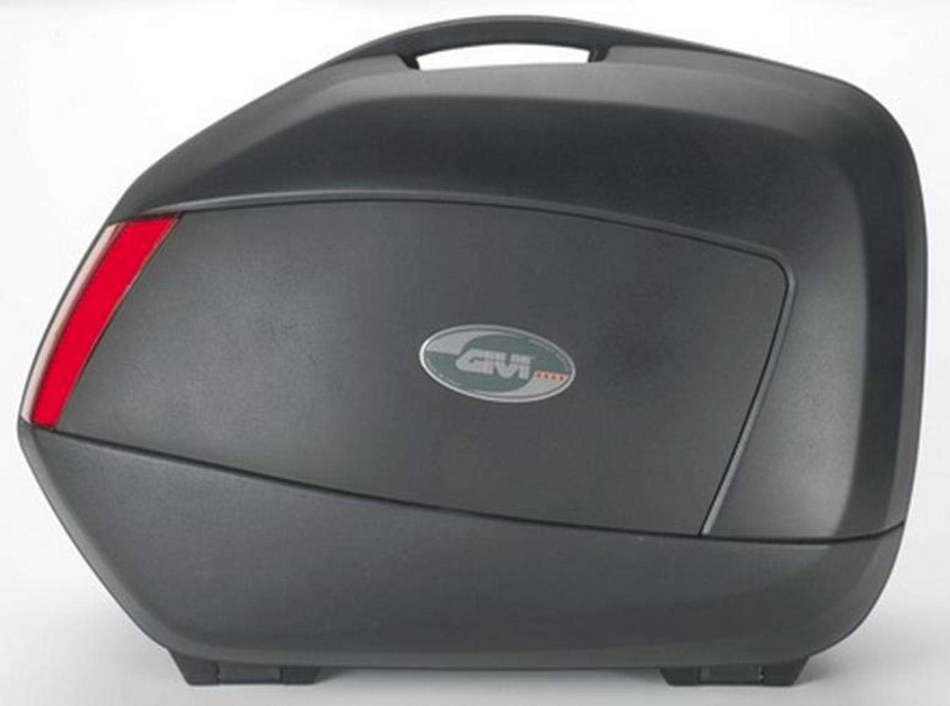 Givi Monolock 37 Liter Top Case Matte Black//RED Lenses
