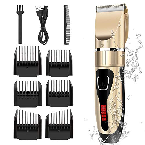Golden Electric Men Hair Clippers Haircut Machine Hair Cutting Tools Hair Trimmer Grooming Kit