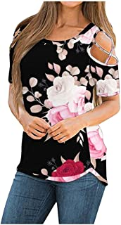 QXXKJDS Women Tee Tops Summer Short Sleeve O Neck Printed Blouse Ladies Loose Shirt Spring Casual Pullover Female Tops sum...