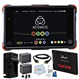 Atomos Ninja Flame 7' 4K HDMI Recording Monitor Bundle Comes with SanDisk 120GB Solid State Drive + (2) Extra NP-F975 Replacement Batteries + Rapid Travel Charger + High Speed HDMI Cable & More!!!