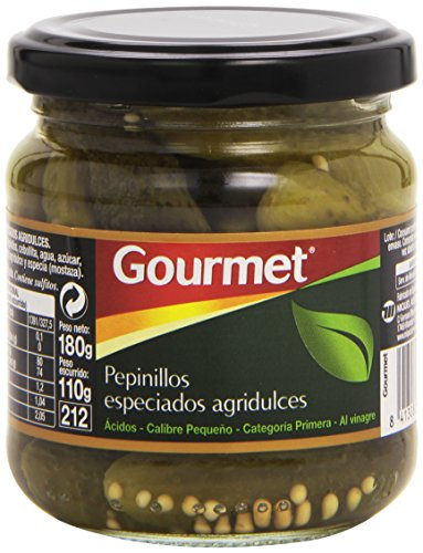 Gourmet - Pepinillos especiados agridulces - Al vinagre - 110 g