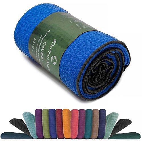 Rutschfestes Yogahandtuch mit Silikon-Dots (Noppen) »Chandra« Anti-Slip Oberfläche Premium Yoga Towel BZW. Sporthandtuch. Größe ca. 183 x 62 cm/erhältlich in den Trendfarben: hellblau