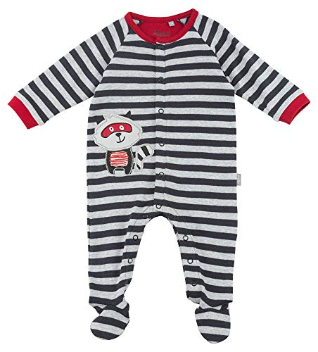 Sigikid Baby-Jungen Overall, Strampler, Mehrfarbig (Mehrfarbig (Grey Melange Abk 39 88) 88), 62
