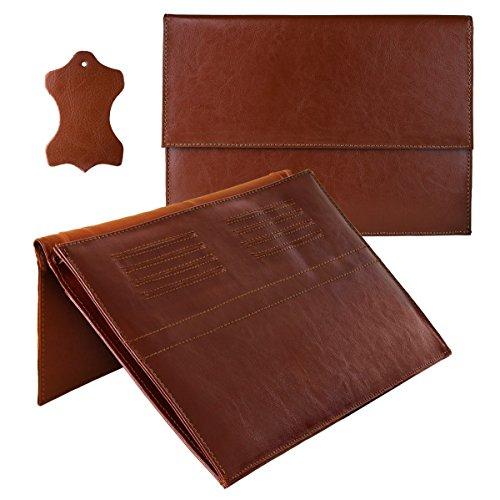 ROYALZ leren hoes voor Acer Chromebook R11 beschermhoes (11,6 inch Convertible notebook) hoes bescherming case leren hoes cover sleeve accessoires bruin