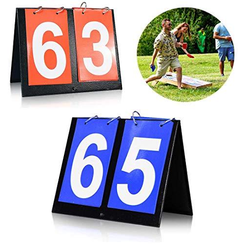 Seapon Cornhole Scoreboard, Score Keeper for Corn Hole Game Play Cornhole Bags, Portable Score Board for Backyard Yard Outdoor Games, Portable Flipper Flip Cards Flips Up to 99', Men Or Boy's Gift's
