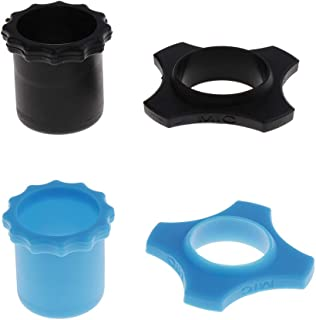 F Fityle 2 Set Microphone Protection Bottom Base MIC Parts Blue Black