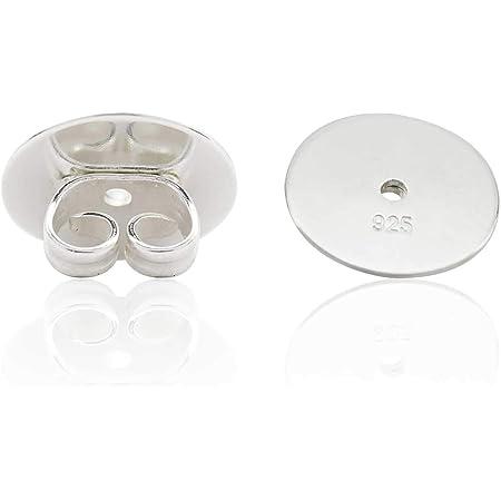 10 Paar 925 Sterling Silber Ohrring Stopper MINGZE 20 St/ück Ohrstecker Verschluss Poallergenen Rund Ohrstopper Standardgr/ö/ße Basteln DIY Schmuckherstellung Nickelfrei
