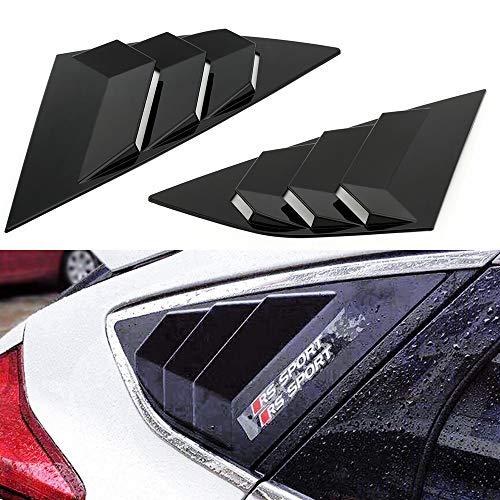 Adecuado para el coche 1 par de la ventana de la ventana del automóvil Ventilación para Ford Focus St RS 2013-18 Modificación de la ventana LOUTERS ABS SCOOP DE LA CUBIERTA DE VENTACIÓN DE VENTACIÓN