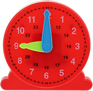 CUTICATE Plastic Teaching Clock Number & Time Puzzles Toy Time Educational Aids Gift