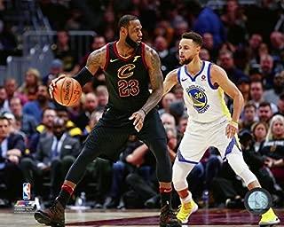 Stephen Curry & LeBron James NBA Action Photo (Size: 8 x 10)