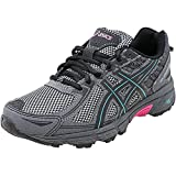 ASICS Women's Gel-Venture 6 Running Shoes, 6M, Black/Island Blue/Pink Glow