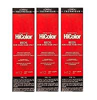 LoreaI Excel Hicolor HiLights DEEP AUBURN RED Permanent Hai Dye 34g (Deep Auburn Red 3pks)