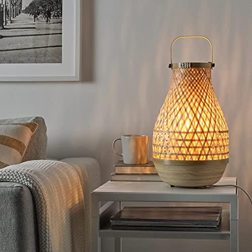 IKEA Lámpara de mesa, Bambú/Hecho a mano 36 cm