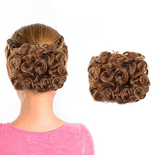 Mega Large Épais Chignon Bouclés Messy Bun Updo Clip Dans Les Extensions De Cheveux Comme Réel Perruque Boucle Rousse Perruque Femme Naturelle Lace Frontal Perruque Tresse Africaine