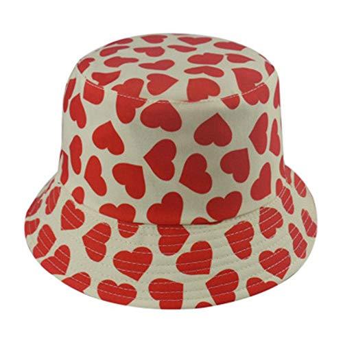 Bucket Hat Hut Mode Liebe Herz Druck Eimer Hut Reversible Fischer Kappen Frauen Für Liebhaber Valentine Mutter Frau Geschenke C.