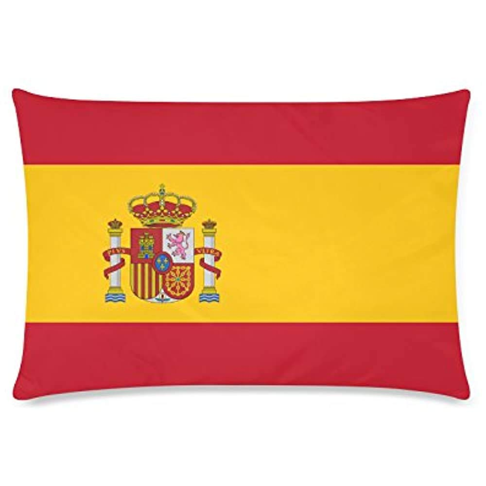 Cómoda Funda de Almohada Decoración para el hogar, Bandera de España Funda de cojín Decorativa Funda de Almohada Asientos de Coche Funda de cojín de Cintura 18x18 Pulgadas PLW-146: Amazon.es: Hogar