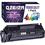 4Benefit Compatible 12A 2612A Q2612A Toner Cartridge Used for HP Laserjet Laserjet Pro 1010 1012 1018 1020 1022 1022n 3015 3030 3050 3052 3055 M1319F Printer (1-Pack, Black)
