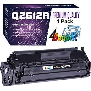 4Benefit Compatible 12A 2612A Q2612A Toner Cartridge Used for HP Laserjet Laserjet Pro 1010 1012 1018 1020 1022 1022n 3015 3030 3050 3052 3055 M1319F Printer  1-Pack Black
